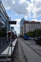 Austin Metro Train Tracks Downtown