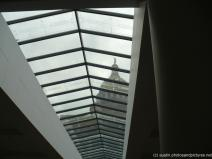 Looking at the main portion of the Texas State Capitol building from the new underground area.jpg