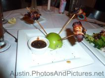 Bacon wrapped sausage at Hudson's on the Bend Restaurant.jpg