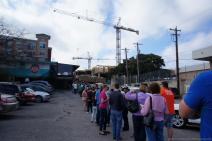 Crowd lining up at Franklin's BBQ in Austin at 1046 AM.jpg