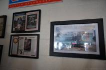 Framed newspaper and magazine articles inside Franklin Barbeque restaurant Austin.jpg