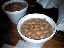 Complimentary beans at Opie's BBQ.jpg
