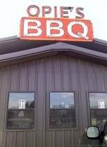 Opie's BBQ sign and credit card accepted includes MasterCard and Visa.jpg