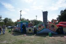 Climbing Wall and Inflated Trains at Day Out with Thomas Event in Burnet.jpg