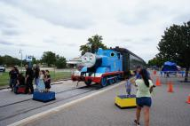 Kid's Take Photos with Thomas the Train at Day Out with Thomas Event in Burnet Texas.jpg
