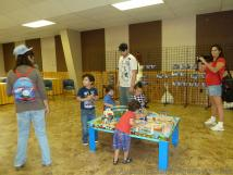 Kids play at Train Table at Day Out with Thomas event.jpg