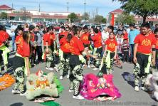 Young performers about to start Lion Dance at Chinese New Year Celebration Austin Chinatown 2014.jpg